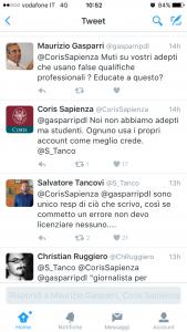 Maurizio Gasparri contro La Sapienza