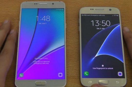 Interfaccia Galaxy Note 7