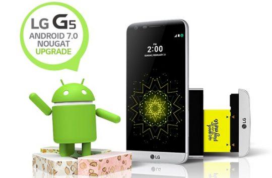 Aggiornamento Nougat LG G5