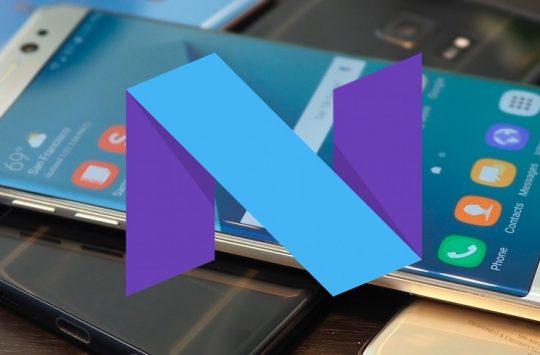 Aggiornamento Nougat Samsung
