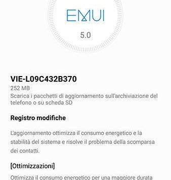 Aggiornamento Huawei P9 Plus