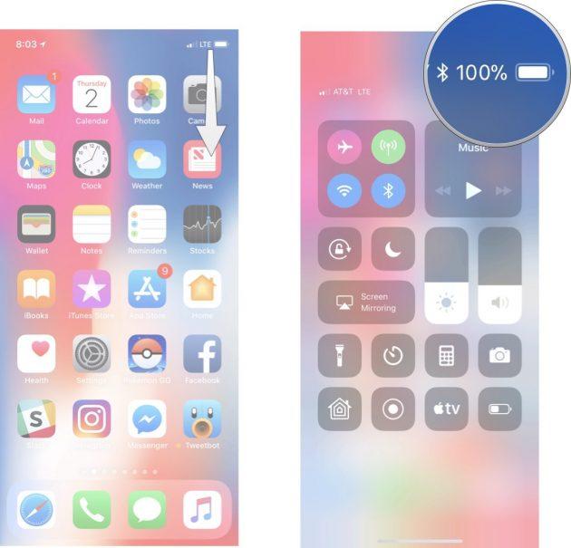Come visualizzare la percentuale batteria su iPhone X