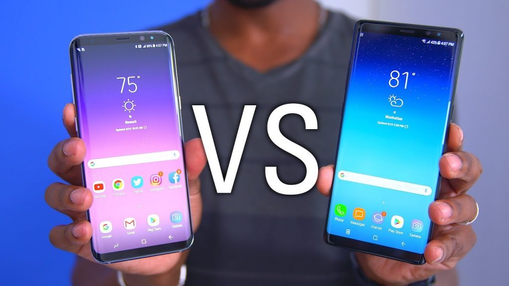 Galaxy Note8 vs Galaxy S8 Plus